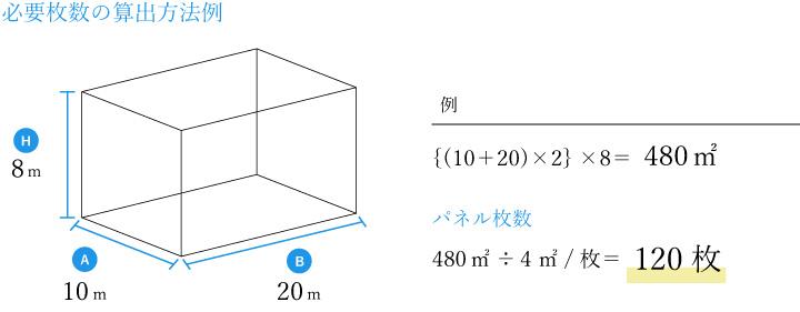 必要枚数の算出方法例pc
