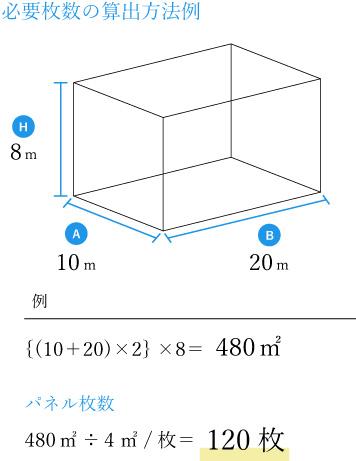 必要枚数の算出方法例sp